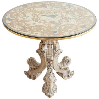 Italian Neoclassical Painted Marble-Top Centre Table For Sale