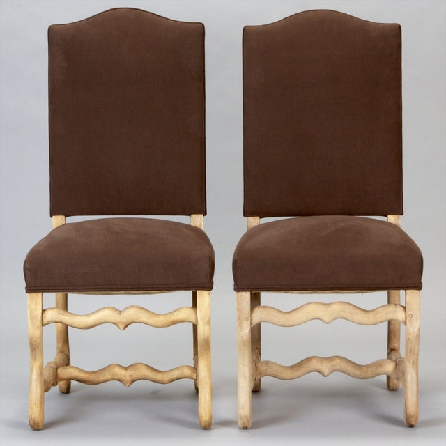 French Os Du Mouton Dining Chairs - Set of 6 - Image 2 of 8