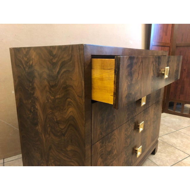 Pair of Flame Mahogany Antique Style Chests For Sale In New York - Image 6 of 7