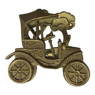 Vintage Antique Car Brass Door Knocker For Sale