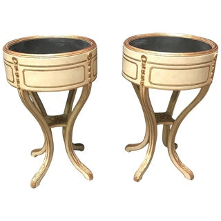 Pair of Italian Neoclassical Style Painted Jardinière For Sale