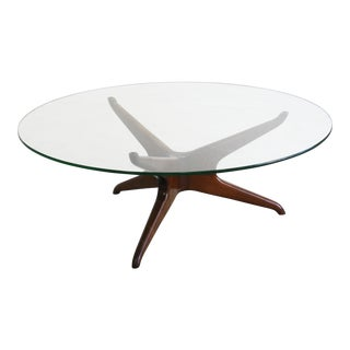 1960's Vintage Vladimir Kagan Trisymmetric Coffee Table For Sale