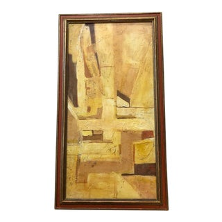 1960s Vintage Vince Jones Modern Abstract Painting For Sale