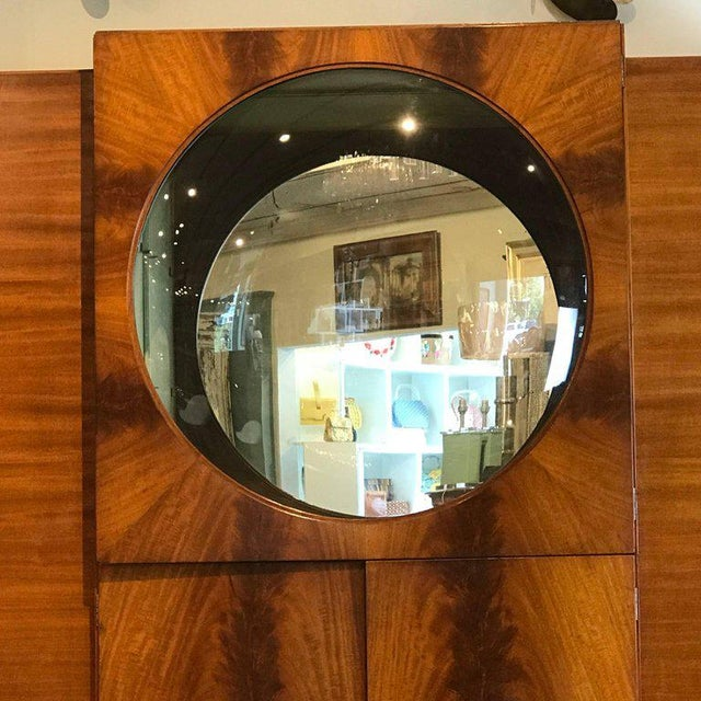 """French Art Deco Vitrine With Convex """"Bubble"""" Glass For Sale - Image 9 of 11"""