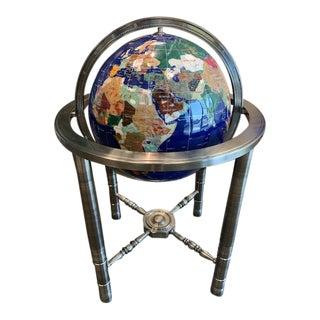 Modern Semi Precious World Globe For Sale