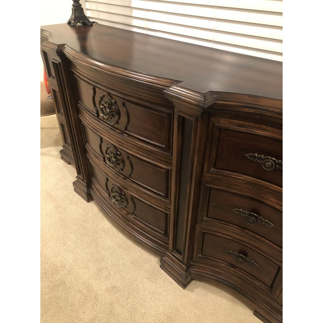 Lovely heirloom pieces with amazing detail. Beautiful dark wood inlay with oil rubbed bronze fixtures. Chest of drawers is...