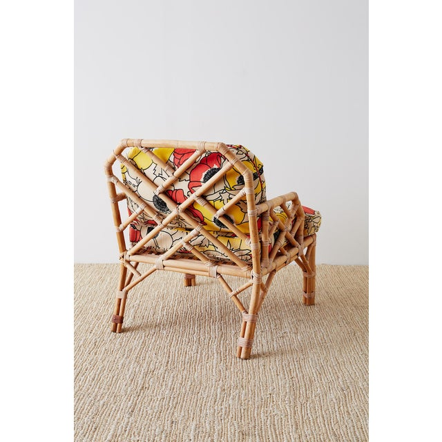 Brown Jordan Chinese Chippendale Rattan Bamboo Lounge Chairs For Sale - Image 10 of 13