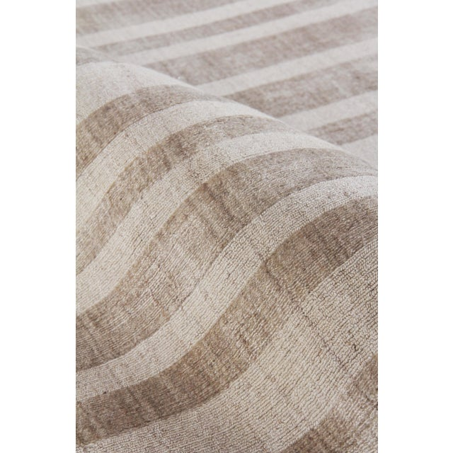 """Iscar Hand loom Wool/Viscose Mineral Rug-6'x9"""" For Sale In Los Angeles - Image 6 of 8"""