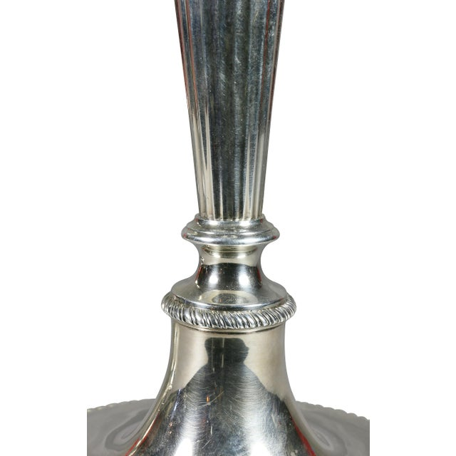 1930s Pair of Large Tiffany & Co. Sterling Candlesticks For Sale - Image 5 of 11