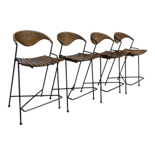 Arthur Umanoff Barstools - Set of 4 For Sale