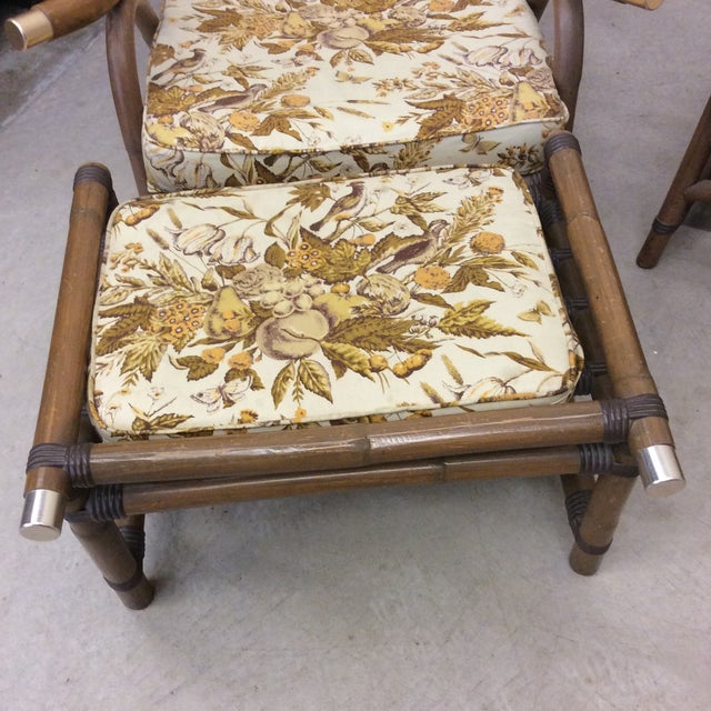 1970s McGuire Style Bamboo Patio Set For Sale - Image 5 of 13