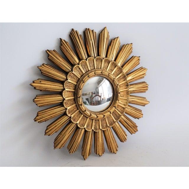 1960s Continental Convex Sunburst Mirror For Sale - Image 5 of 8