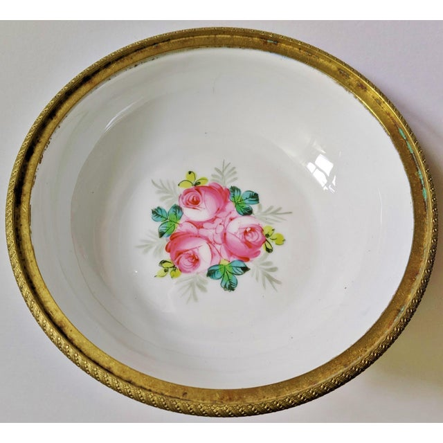 Early 20th Century Antique French Gilt Bronze & Porcelain Sevres Jewelry Box / Potpourri For Sale - Image 5 of 13
