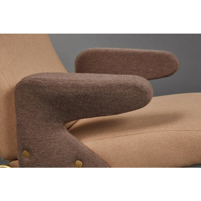 """Fabric Pair of """"Delfino"""" Armchairs by Erberto Carboni Manufactured by Arflex For Sale - Image 7 of 10"""