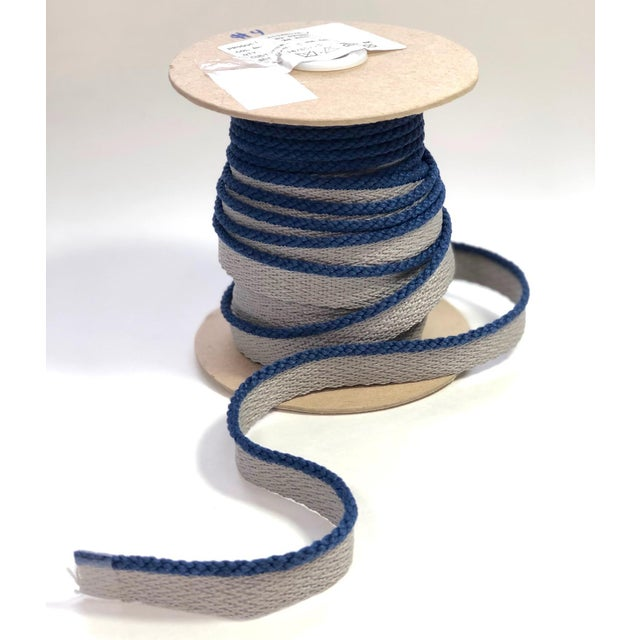 """Cabled 1/8"""" Indoor/Outdoor Blue Cord Trim For Sale - Image 9 of 9"""
