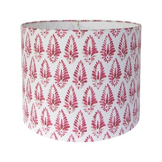 Red Patterned Lamp Shade For Sale
