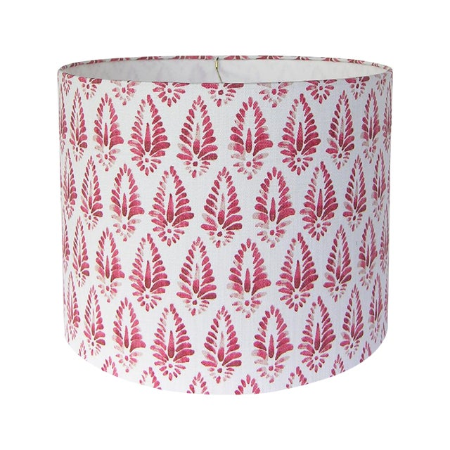 Image of Red Patterned Lamp Shade