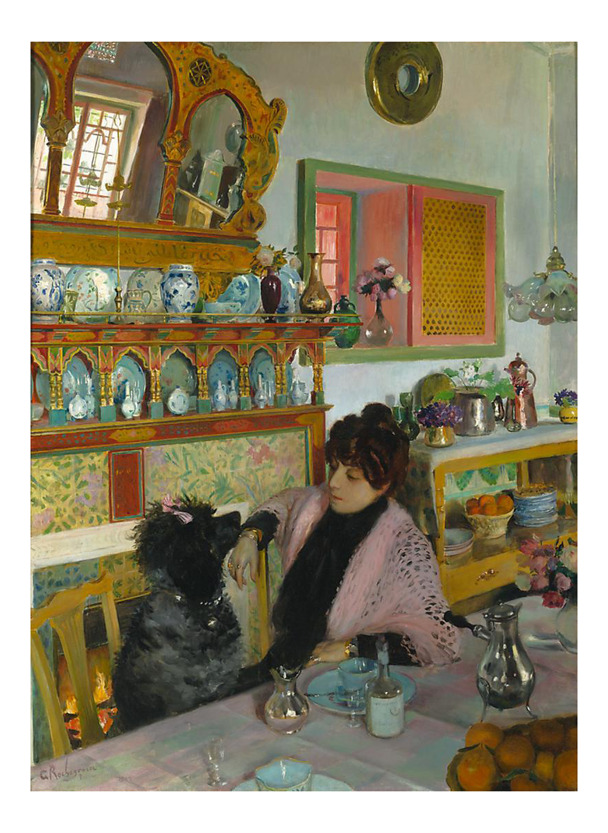 Distinguished Marie Rochegrosse Dans La Salle A Manger By Georges
