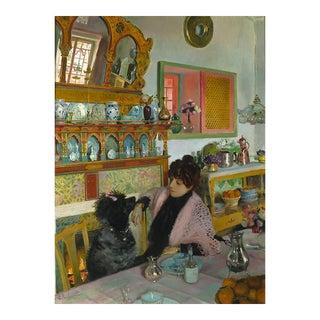 Marie Rochegrosse Dans La Salle À Manger By Georges Rochegrosse