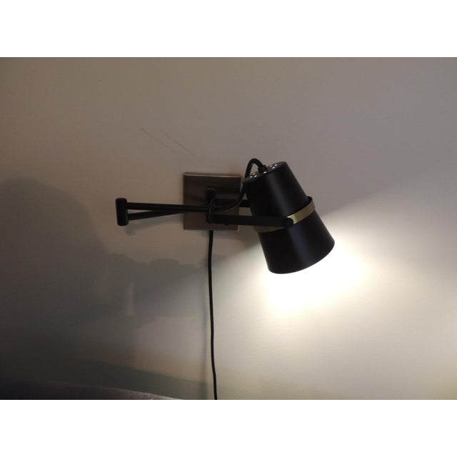 Pair of Mid Century Modern Style Wall Swing on Lamps For Sale - Image 10 of 12