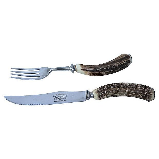 English Sheffield Stag-Horn Steak Set - Image 2 of 5