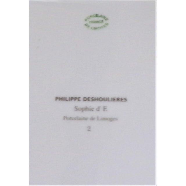 Vintage Philippe Deshoulieres Limoges Leopard Porcelain Trinket Tray / Catchall For Sale - Image 9 of 10