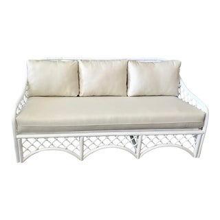 Vintage Restored Ficks Reed Rattan Sofa For Sale