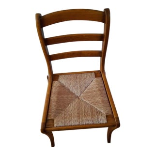 Grange Cane Wood Chair For Sale