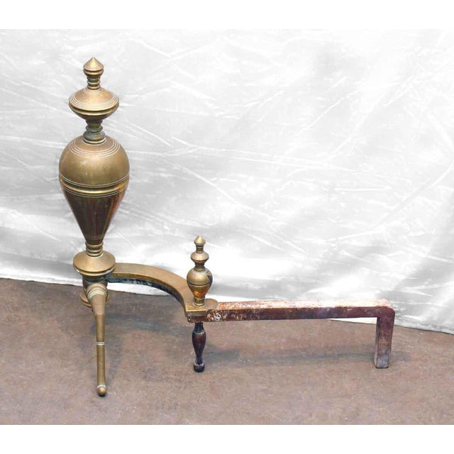 Brass & Iron Andirons - A Pair - Image 5 of 7