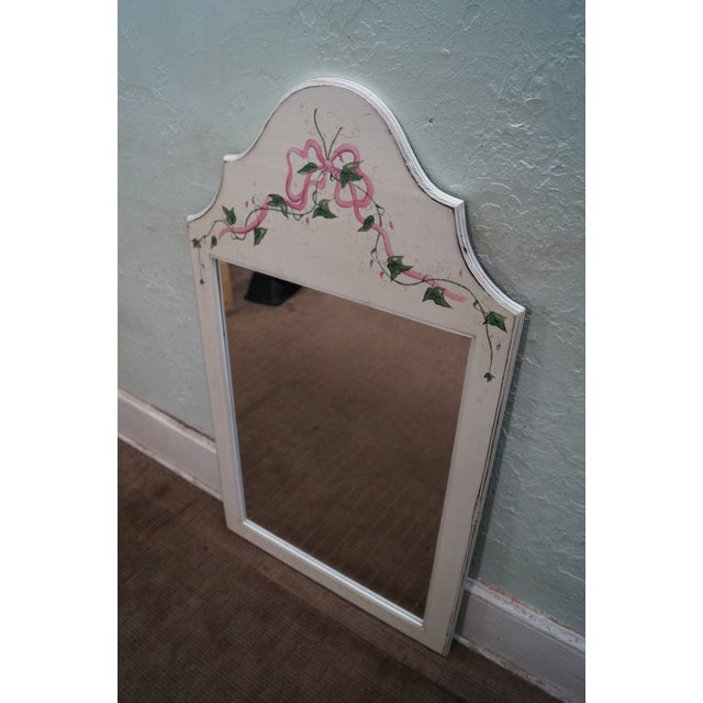 Country Hand Painted Venetian Andrea Davinci Braun Mirror For Sale - Image 3 of 10