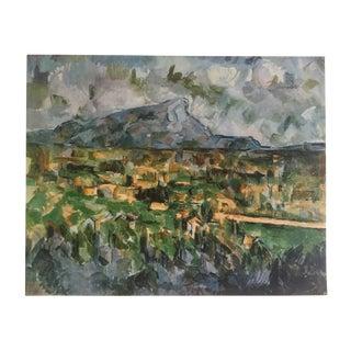 """Paul Cezanne Rare 1952 Authentic Lithograph Print """" Mont Sainte Victoire """" 1904"""
