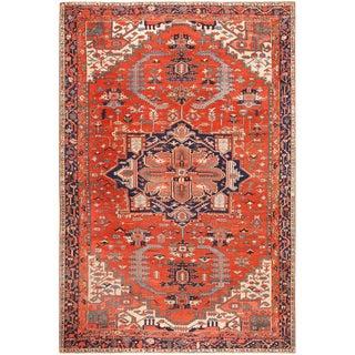 Large Antique Serapi Persian Rug - 11′ × 16′3″ For Sale