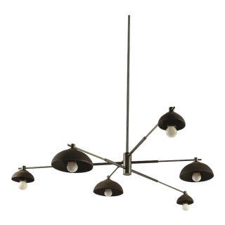 Dixon Ceiling Fixture Six Light by Pax Lighting For Sale