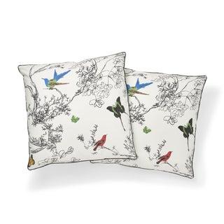 Schumacher Birds & Butterflies Pillow in Multi Preview
