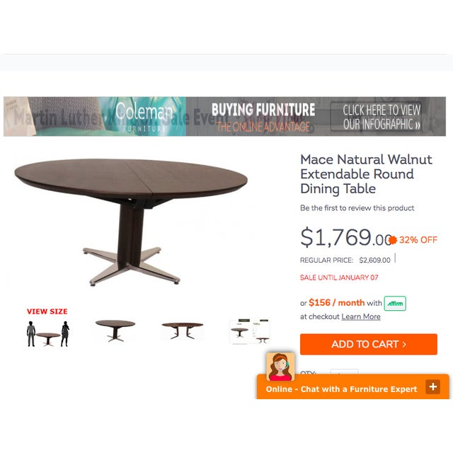 Crate & Barrel Modern Round Dining Table - Image 3 of 10