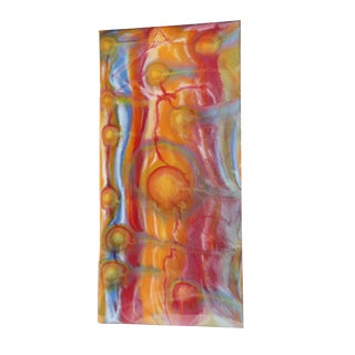 """Tal McAbian """"Agent Orange"""" Original Abstract Mixed Media Painting For Sale"""