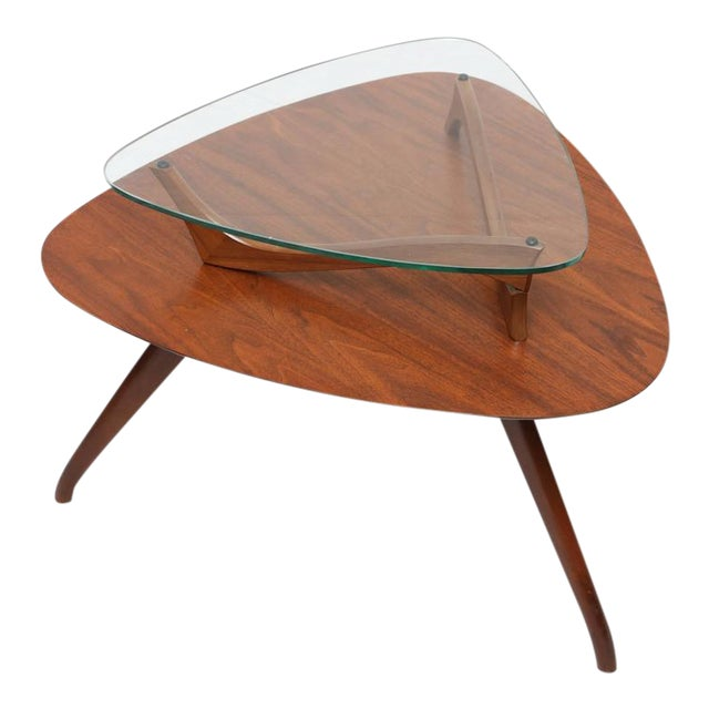 1960s American Vladimir Kagan Style Side Table For Sale