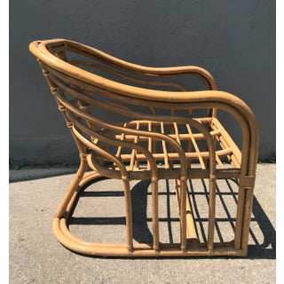 1970's Vintage Rattan Lounge Chair Preview