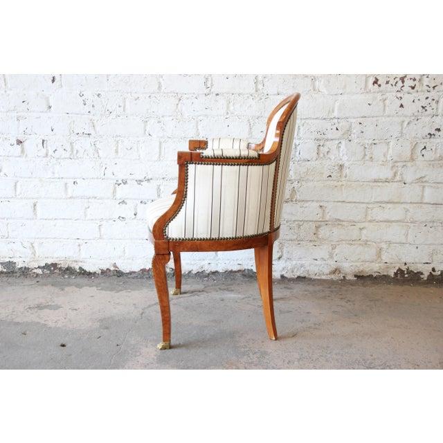 Late 20th Century Antique Petite Biedermeier Style Armchair For Sale - Image 5 of 9