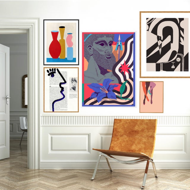 Contemporary Delphi Gallery Wall, Set of 5 For Sale - Image 3 of 9