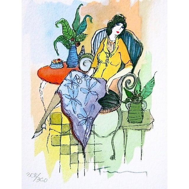 Artist: Itzchak Tarkay (1935-2012) Title: Daytime Nap II Year: 2001 Medium: Silkscreen on wove paper Size: 5.25 x 4 inches...