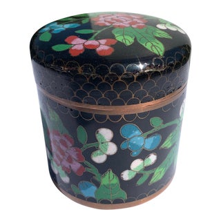 Early 20th Century Chinese Cloisonne Cylinder For Sale