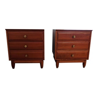Willett Mid-Century Modern Cherry Nightstands - Set of 2 For Sale