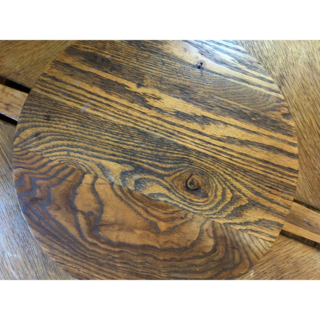 Mid-Century Modern Handmade Oak Coffee Table Chair Set For Sale In Raleigh - Image 6 of 9
