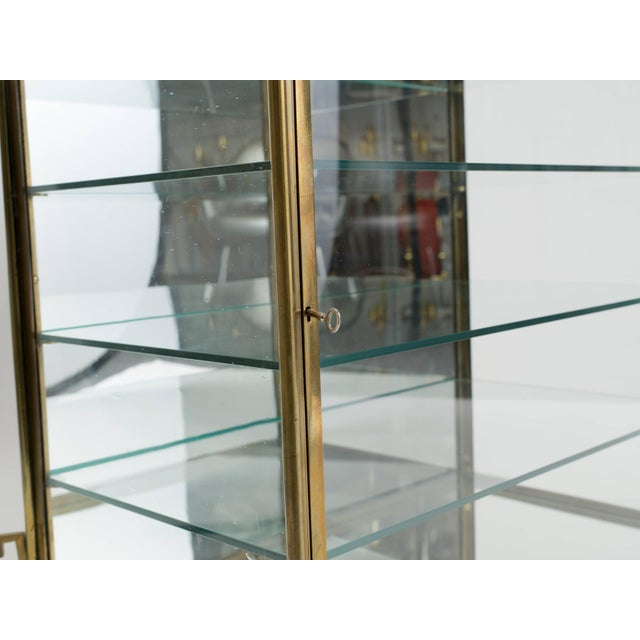 Italian Brass and Glass Display Cabinet For Sale In New York - Image 6 of 11