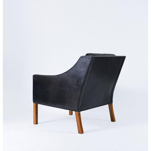 Borge Mogensen Model #2207 Leather Lounge Chair - Image 7 of 10