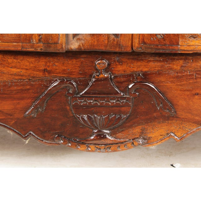 Walnut Antique Louis XV-Style Credenza For Sale - Image 7 of 9