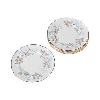 1950s English China Leaf Plates - Set of 6