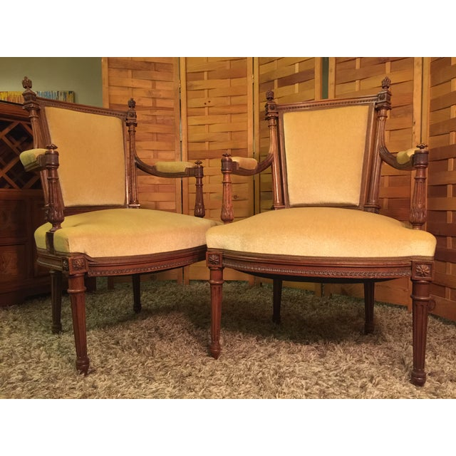 Louis XVI Style Armchairs - A Pair - Image 3 of 10