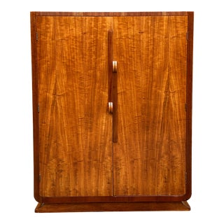 Art Deco Satinwood and Mahogany 6 Drawer Dresser For Sale